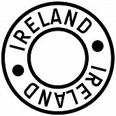 Ireland Typographic Stamp. Typographic Sign, Badge Or Logo poster
