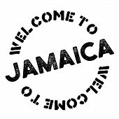 Jamaica Typographic Stamp. Typographic Sign, Badge Or Logo poster