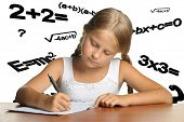 The Girl And Mathematical Formulas