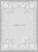 Wedding invitation, frame lace-like