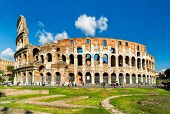 Colosseum Or Coliseum In Rome, Italy. It Is The Main Travel Attraction Of Rome. Colosseum In The Sun poster