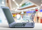 Shopping Cart Shop Laptop Shopping Cart Electronics Store Shopping Online poster