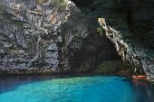 Limnetic cave of Melissani at Kefalonia, Greece