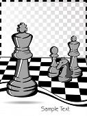 vector illustration of chess
