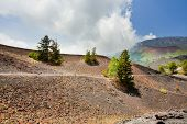 Mountain Path In Clinker Ground On Volcano Etna