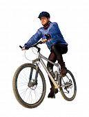 mountain biker isolated