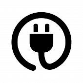Power Cord Icon Isolated On White Background. Power Cord Icon Modern Symbol For Graphic And Web Desi poster