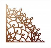 Laser Cutting Corner. Vector Template For Paper Cutting, Metal And Woodcut. Tapestry Panel. Jigsaw D poster
