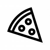 Постер, плакат: Pizza Icon Isolated On White Background Pizza Icon Modern Symbol For Graphic And Web Design Pizza