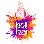 Illustration Of Abstract Colorful Happy Holi Background For Color Festival Of India Celebration Gree poster