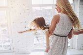 Mom And Daughter Having Fun At Home poster