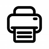 Printer And Fax Icon Isolated On White Background. Printer And Fax Icon Modern Symbol For Graphic An poster