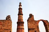 Qutub (Qutb) Minar, the tallest free-standing stone tower in the world, and the tallest minaret in I