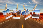 Vacation Travel Concept With Film Images Of Monument Valley Arizona poster