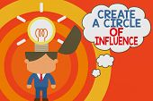 Word Writing Text Create A Circle Of Influence. Business Concept For Be An Influencer Leader Motivat poster