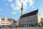 foto of hall  - the heart of Tallinn in Old Town with city hall - JPG