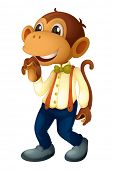 Man-like monkey on a white background - EPS VECTOR format also available in my portfolio.