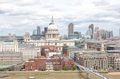 London St Pauls Cathedral And River Thames Cityscape London England poster