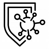 Immune Shield Protection Icon. Outline Immune Shield Protection Vector Icon For Web Design Isolated  poster