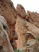 Towering Jagged Red Rocks
