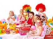 picture of clown face  - Children happy birthday party  - JPG