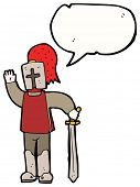 image of arthurian  - cartoon arthurian knight - JPG