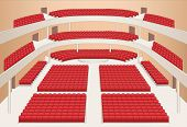 Interior Of Theater Hall Color Plan Vector