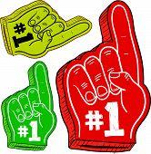 # 1 Schaum Finger