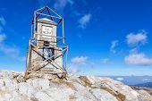 Peak Musala, the highest point of Bulgaria and Balkan peninsula. Translation: Peak Musala poster