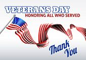A Veterans Day American Flag Ribbon Background Design poster