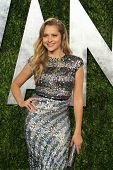 WEST HOLLYWOOD, CA - FEB 24: Teresa Palmer at the Vanity Fair Oscar Party at Sunset Tower on February 24, 2013 in West Hollywood, California