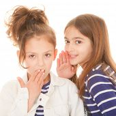 children whispering secrets shocking secrets scandal and gossip