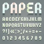 Alphabet folded of toilet green paper