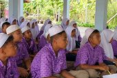 Boys And Girls In A Muslim Public School In Thailand