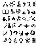 image of radioactive  - set of vector icons Science and Education - JPG