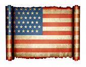 American Scroll Flag