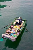 Grocery boat in Halong Bay,Vietnam