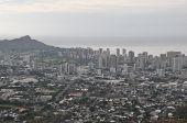 stock photo of punchbowl  - Vast View of Honolulu - JPG