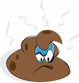 stock photo of feces  - Cartoonish stylized character depicting some  - JPG