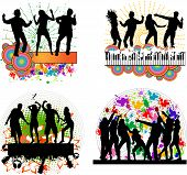 Dancing People -grunge Background