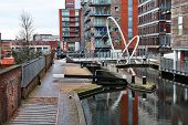 foto of west midlands  - Birmingham water canal network and modern architecture - JPG