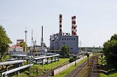 Industrial Cityscape - Building Chp In Gomel