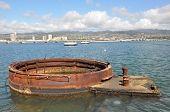 Gun Turret at the USS Arizona Memorial