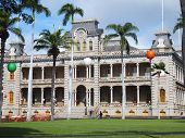 Iolani Palace in Oahu, Hawaii