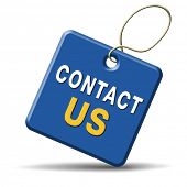contact us for feedback icon or sign. Coordinates and address for customer support and extra informa