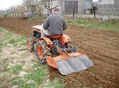 Traktor auf Garten