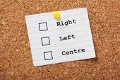 Right,Left or Centre?