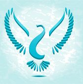 Stylized bird or dove