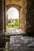 picture of crusader  - The historic city of Byblos in Lebanon viewed from the gate entrance of the crusaders - JPG