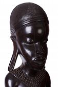 Statue of an African woman carved from ebony